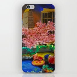 A Most Unlikely Garden Amongst Concrete iPhone Skin