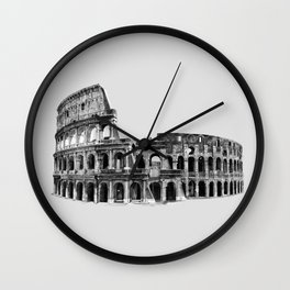 Colosseum Drawing Wall Clock