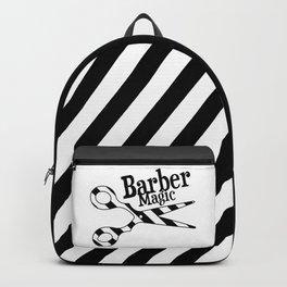 Barber Magic - black and white Backpack