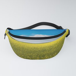 Drifting Days - Blissful Spring Day of Blue Skies and Yellow Canola Fields Fanny Pack