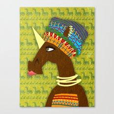 Unicorn African Queen Canvas Print