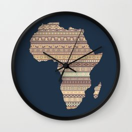 Africa map Wall Clock