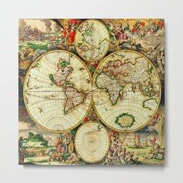 Ancient World Map 1689 Metal Print