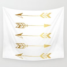 Faux gold foil arrows Wall Tapestry