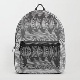 spiky grey gradient Backpack