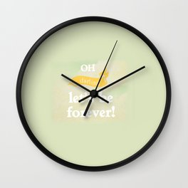 Oh Darling! Wall Clock