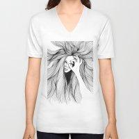 leo V-neck T-shirts featuring Leo by Hanna Viktorsson