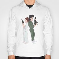 ripley Hoodies featuring Leia and Ripley by Ashley Anderson