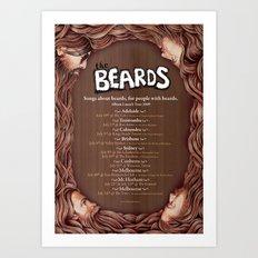 The Beards ~ Beards Beards Beards tour poster Art Print