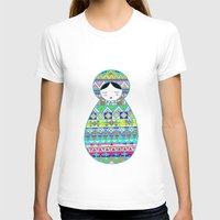 russian T-shirts featuring Russian Doll by Genevieve Lutsch