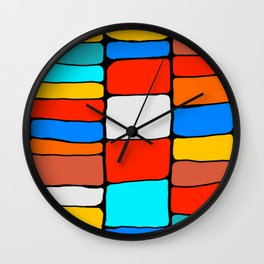 Cargo Ship Containers 8 Wall Clock
