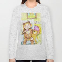 Teddybear tea-time Long Sleeve T-shirt