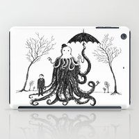 lovecraft iPad Cases featuring Young Master Lovecraft Finds A Friend by Jon Turner