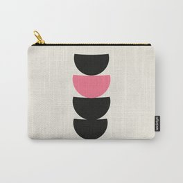 Crescents (Black and Pink) Carry-All Pouch