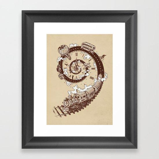 Time Travel Framed Art Print