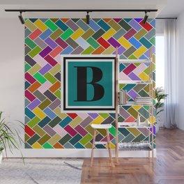 B Monogram Wall Mural