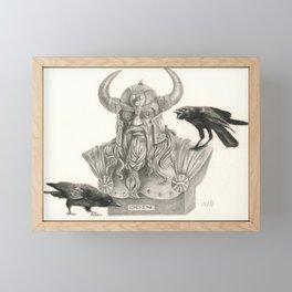 Huginn & Muninn Framed Mini Art Print
