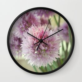 Chive flowers Wall Clock