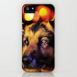 A German Shepherd. (Painting) iPhone Case