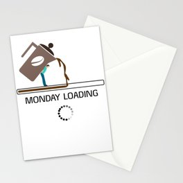 Monday Coffee Loading Stationery Cards