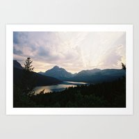 medicine Art Prints featuring Two Medicine by Kevin Zerbe