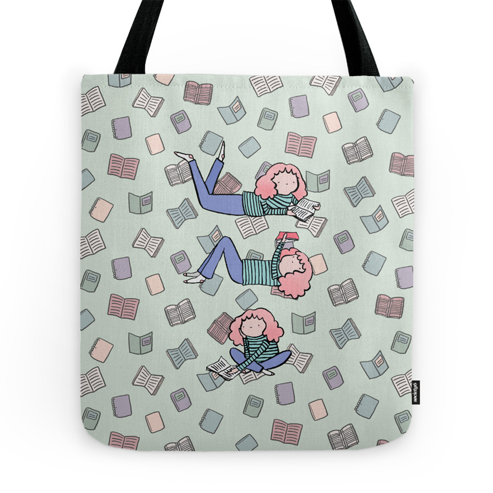 Readin' Girls Tote Purse by annakatcats (TBG7338051) photo