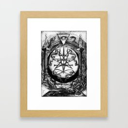 The Dreaming Abyss (Black and White) Framed Art Print