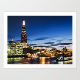 The Thames and the Shard Art Print