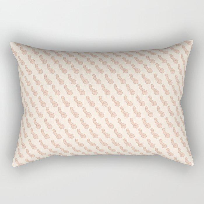 Practically Perfect - Penis in Cream Rectangular Pillow