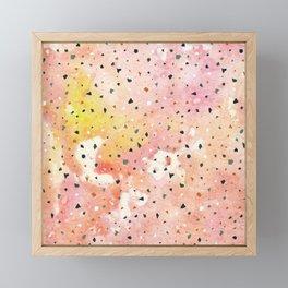 Blush Pink and Orange Marble with Terrazzo Framed Mini Art Print