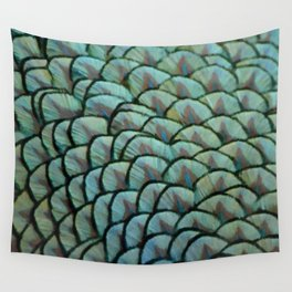 Beautiful Elegant Peacock Feathers Wall Tapestry