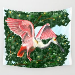 Roseate Spoonbill Wall Tapestry