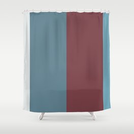 Parable to Behr Blueprint Color of the Year and Accent Colors Vertical Stripes 3 Shower Curtain