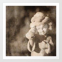 Angel Sculpture Art Print