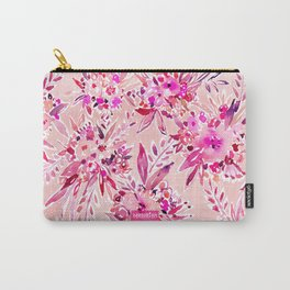 GIMME THAT Pink Wild Floral Carry-All Pouch