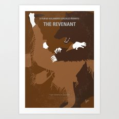 No623 My The Revenant minimal movie poster Art Print