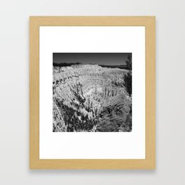 Amazing Bryce Canyon View in Monochrom Framed Art Print