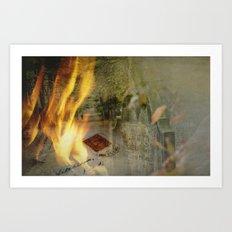 Silence of memory Art Print