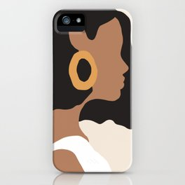 Lovely girl - Muted palette - Modern abstract hand drawn art iPhone Case