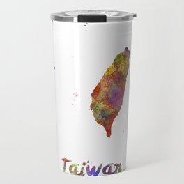 Taiwan in watercolor Travel Mug