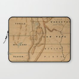 Map of Utah 1871 Laptop Sleeve