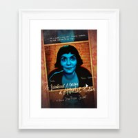 amelie Framed Art Prints featuring Amelie by Anna Siviero