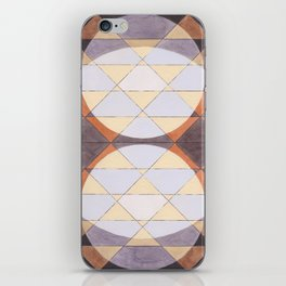 Triangles and Circles Pattern no.24 iPhone Skin