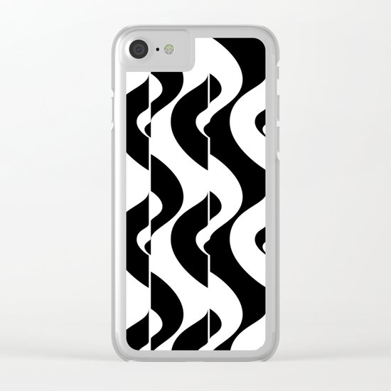 OpArt Waves Clear iPhone Case