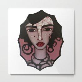 "SCARLETT - Acrylic on wood... 11.5"" x 8.5"" Metal Print"