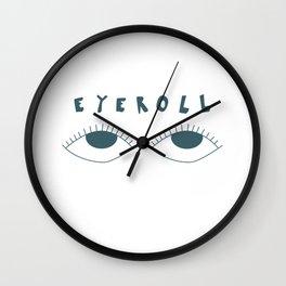 eyeroll Wall Clock