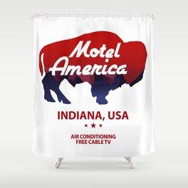 Motel America - American Gods Shower Curtain