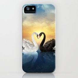 Cisnes Love iPhone Case