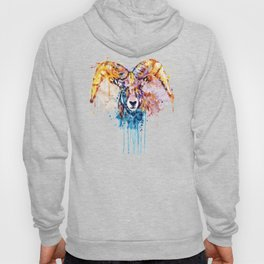 Bighorn Sheep Portrait Hoody