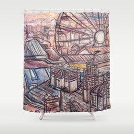 Buildings Shower Curtain